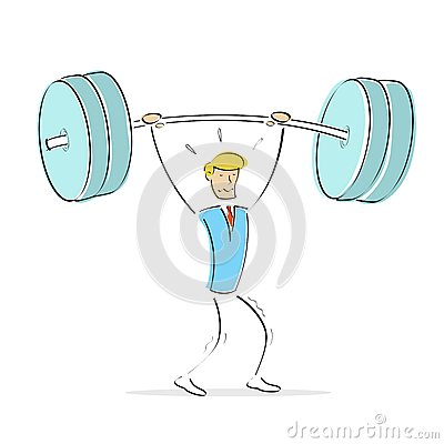 Man doing weight lifting