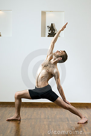 Man Doing Yoga - Vertical