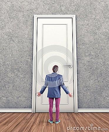 Man before a door