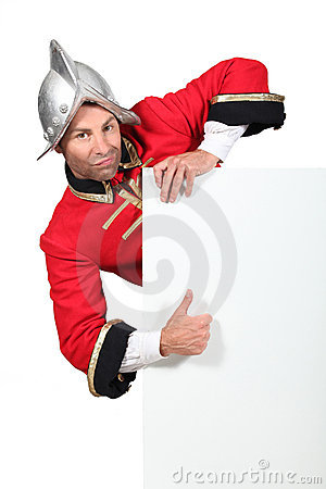 Man dressed as a soldier