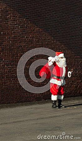 Man dressed in santa suit Editorial Stock Photo
