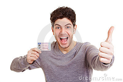 Man with drivers license