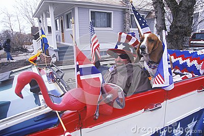 Man Driving Convertible Editorial Image