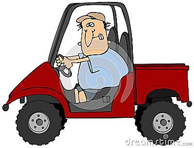 Man Driving A UTV Vehicle