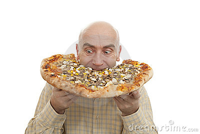Man Eat Pizza Royalty Free Stock Photo - Image: 22065895