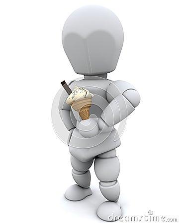 Man eating an icecream