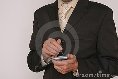 Man with electronic device