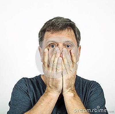 Man in emotion