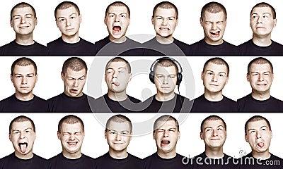 Man - emotion face