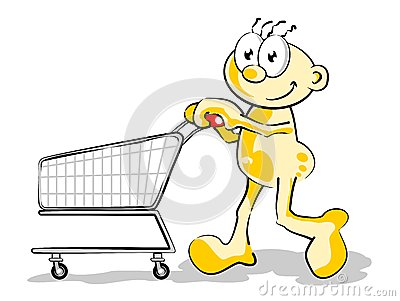 Man with Empty cart