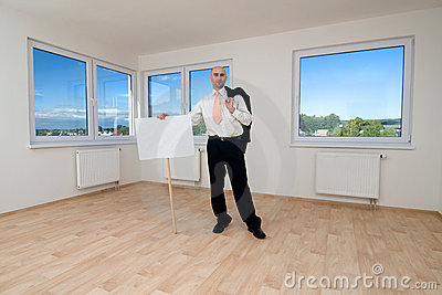 Man in empty room