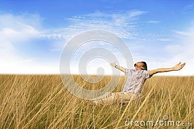 Man enjoying freedom