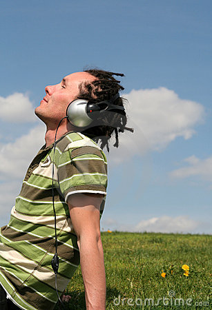 Man Enjoying Music Royalty Free Stock Photo - Image: 776855
