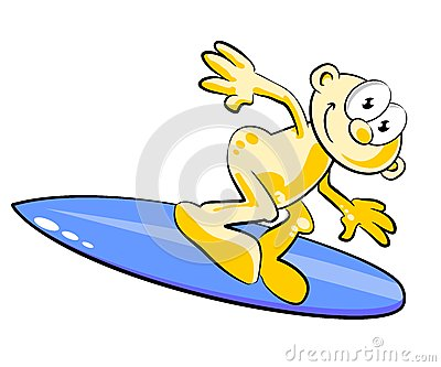 Man enjoying surfing