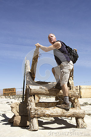 Man Entering Private Property