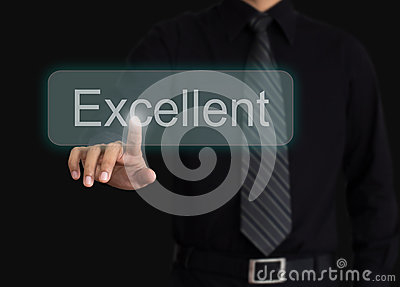 Man evaluate excellent quality