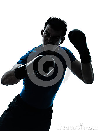 Man exercising boxing boxer posture