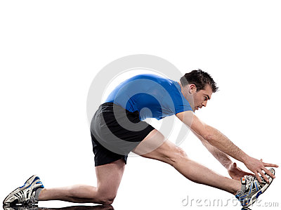 Man exercising training workout fitness