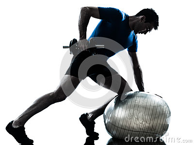 Man exercising training workout fitness posture