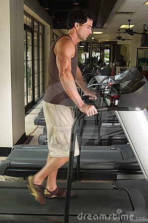 Man Exercising On Treadmill 3