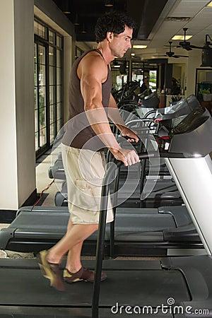 Man Exercising On Treadmill 3