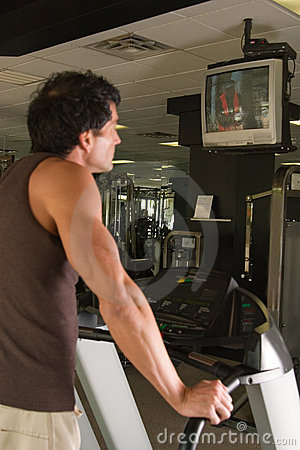 Man Exercising On Treadmill 7
