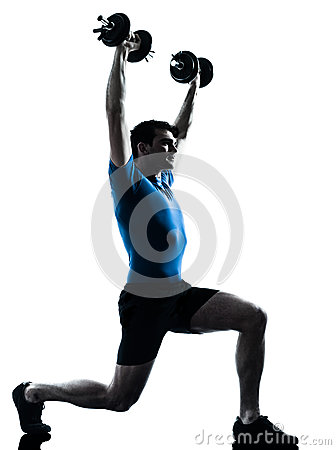 Free Man Exercising Weight Training Workout Fitness Posture Stock Image - 33719761