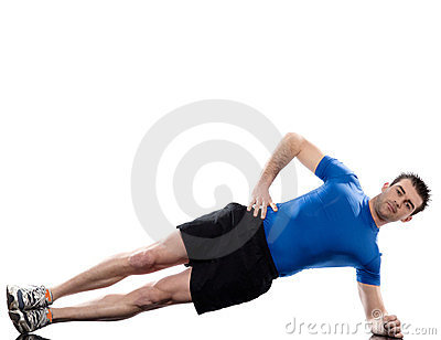 Man exercising workout fitness