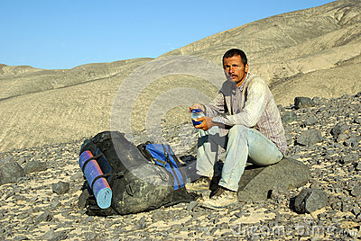 Man in expedition