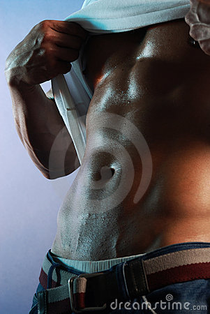 Man exposing abdomen 2