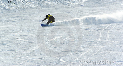 A man extreme snowboard riding