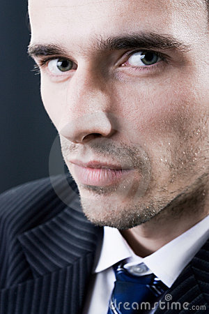 Man face model portrait studio dark background