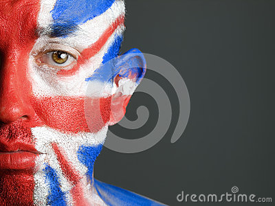 Man face painted flag of United Kingdom 5