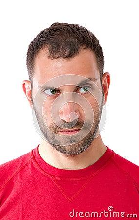 Man facial expression