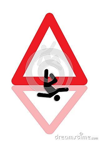 Man fallen down icon graphic