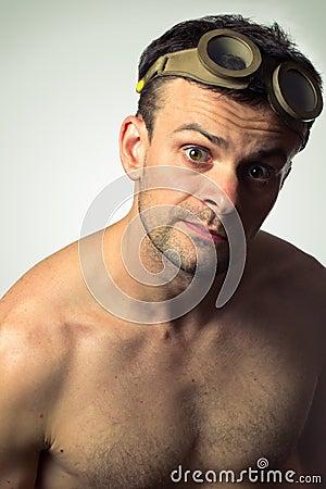 Man in fancy glasses