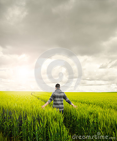 Man on a field