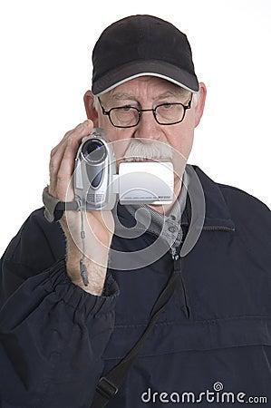 Man is filming