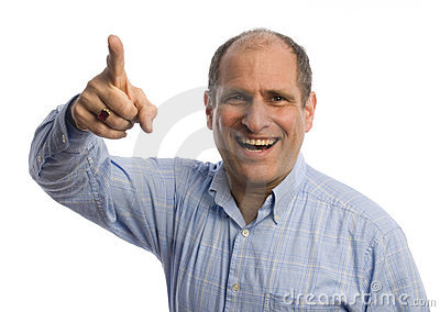 Man With Finger Pointing At Viewer Positive Royalty Free Stock Images - Image: 8540399