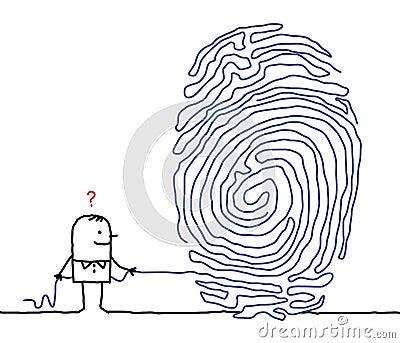 Man & fingerprint maze