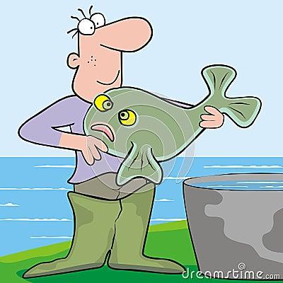 Man and fish