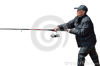 Man on fishing