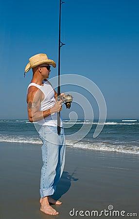 Free Man Fishing Royalty Free Stock Images - 5528849