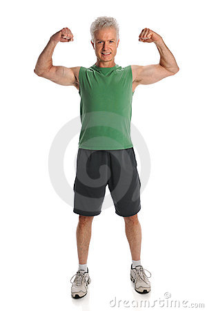 Man Flexing Muscles