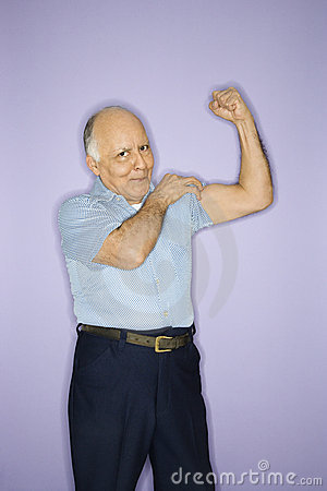 Man Flexing Muscles. Stock Image - Image: 2044911
