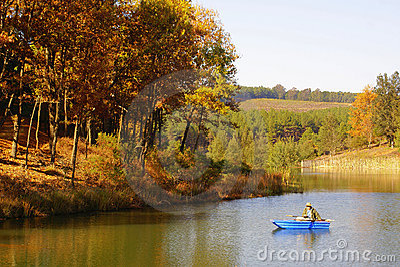 Man fly-fishing