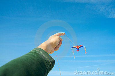 Man flying a kite