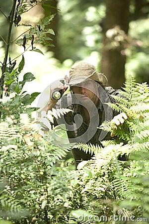 Man Through Forest