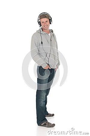 Man forties headset