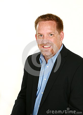 Man with freckles and goatee